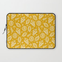 Floral Pattern Tulips and Leaves Laptop Sleeve