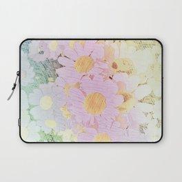 Pink Sorbet Chamomile Flowers Laptop Sleeve