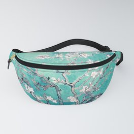 Vincent Van Gogh Almond Blossoms Turquoise Fanny Pack