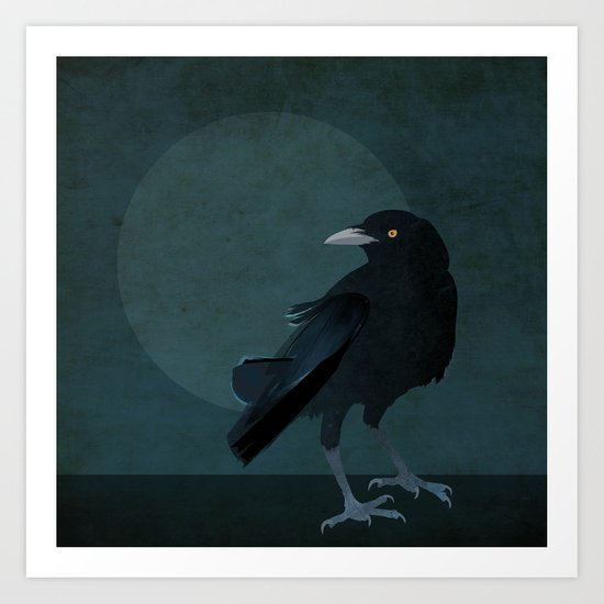 darkness there and nothing more Art Print
