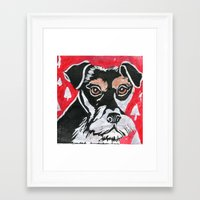schnauzer Framed Art Prints featuring Schnauzer by Mandarin Duck Craft