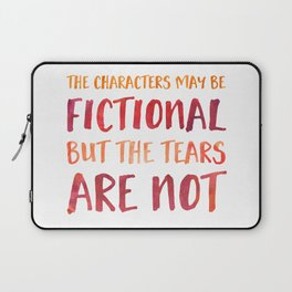 The Characters May Be Fictional But The Tears Are Not - Red/Orange Laptop Sleeve