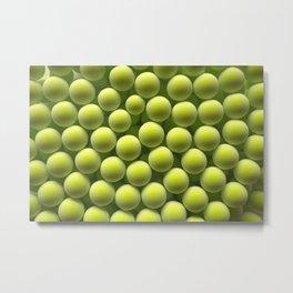 Green spheres Metal Print