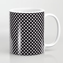 Black and Orchid Ice Polka Dots Coffee Mug