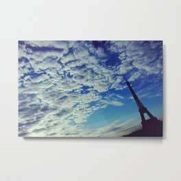 Cloudy sunrise in Paris - Fine Arts Travel Photography Metal Print