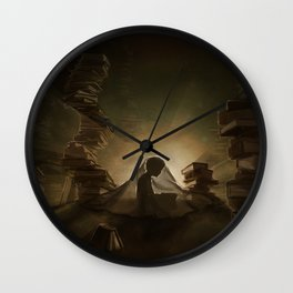 A Little Night Reading Wall Clock