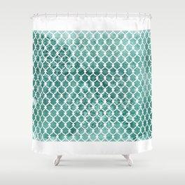 Emerald Trellis Pattern Shower Curtain
