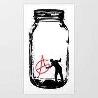 anarchy Art Prints featuring Anarchy  by jamieskinner
