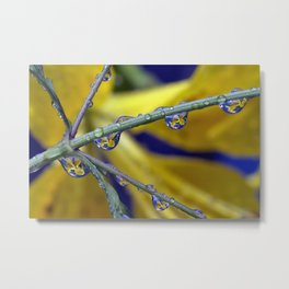 Easter lilly drops 2 Metal Print