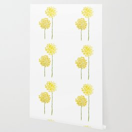 two abstract dandelions watercolor Wallpaper