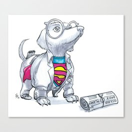 #DogDays18 Mild Mannered Canvas Print