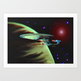 Enterprise NCC 1701D Art Print