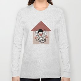 Stay Home Club (alternate) Long Sleeve T-shirt