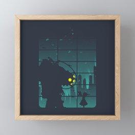bioshock big daddy Framed Mini Art Print