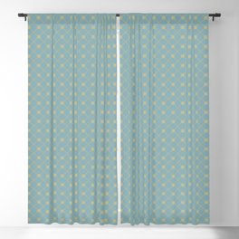 Earthy Green on Tranquil Blue Parable to 2020 Color of the Year Back to Nature Polka Dot Grid Blackout Curtain