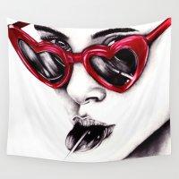 lolita Wall Tapestries featuring Lolita  by Bella Harris