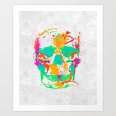 Dead Color Skull Art Print