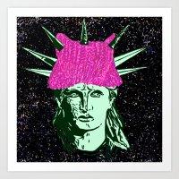 the Lady Liberty Art Print