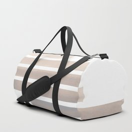 Grey Midcentury Modern Minimalist Staggered Stripes Rectangle Geometric Aztec Pattern Watercolor Art Duffle Bag