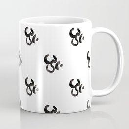 Yoga, Om, aum,  Meditation Relaxation Typography Hand written Coffee Mug
