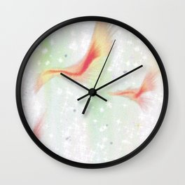 And it's all fun and games, And there's no turning back now. Wall Clock