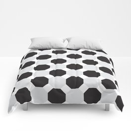 Black & Grey Hexagons Comforters
