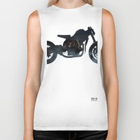 cafe racer Biker Tanks featuring cafe racer fighter bike by Daniele Faro