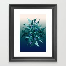 Cracked Icicles Framed Art Print