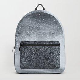 Ocean Mist - Minimal Grey Distressed Grunge Backpack