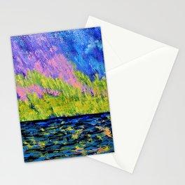 Aurora Borealis Over Lake Michigan Stationery Cards