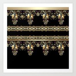 Gold East. Art Print