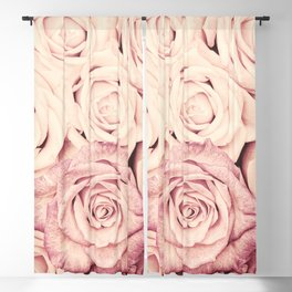 Some people grumble I Floral rose roses flowers pink Blackout Curtain