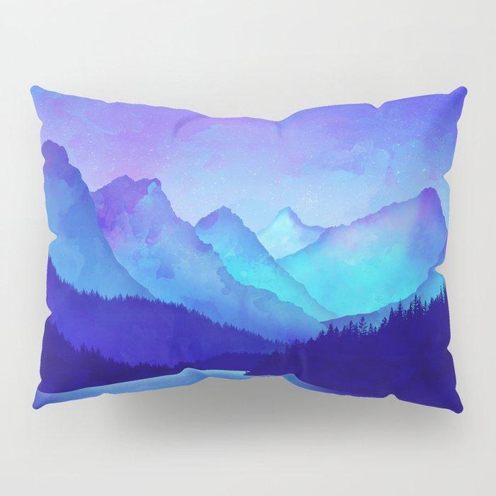 Cerulean Blue Mountains Pillow Sham