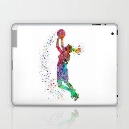 Basketball Girl Player Sports Art Print Laptop & iPad Skin