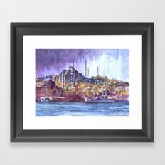 Eminönü Skyline Framed Art Print