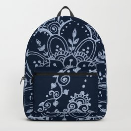 Cat and Moon  - Silver Backpack