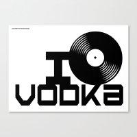 vodka Canvas Prints featuring LOVE VODKA by Giovanni Potenza