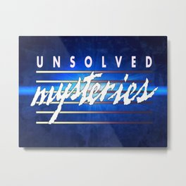 Unsolved Mysteries Remastered Metal Print