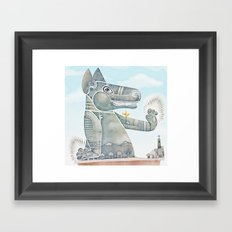 Tobias the dog. Framed Art Print