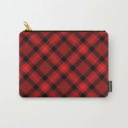 Black and Red Plaid Pattern Carry-All Pouch