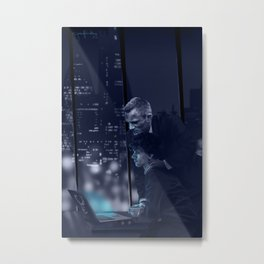 00Q Office Blue Metal Print