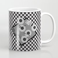 cigarettes Mugs featuring coffee and cigarettes by Live It Up
