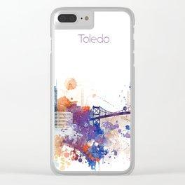 Colorful Toledo watercolor design Clear iPhone Case