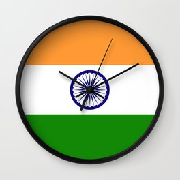 National flag of India - Authentic version to scale and color Wall Clock