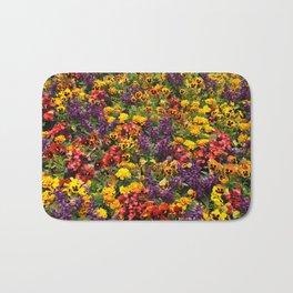 Begonias, marigolds and pansies Bath Mat