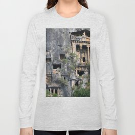 Rock Tombs Photograph Fethiye Long Sleeve T-shirt