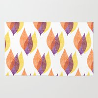 discount Area & Throw Rugs featuring Fall Leaves by Katayoon Photography