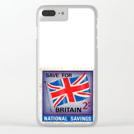 British War Savings Stamps Clear iPhone Case