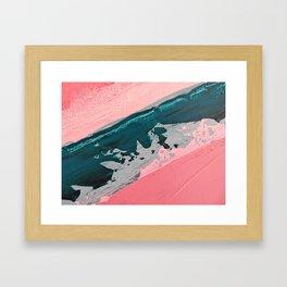 ABSTRACT STREAM   Acrylic abstract art by Natalie Burnett Art Framed Art Print