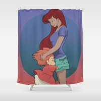 ghibli Shower Curtains featuring Goodbye Ghibli by Hyung86